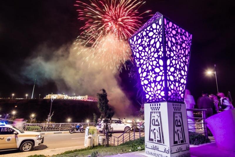 لوحات جمالية وألعاب نارية تزيّن سماء الباحة بمناسبة عيد الفطر - المواطن