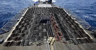 البحرية الأمريكية تصادر أسلحة كانت في طريقها للحوثي