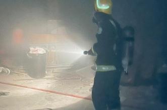 إخماد حريق في موقع داخل سوق تجاري بالرياض - المواطن