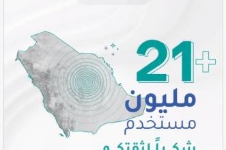 أكثر من 21 مليون مستخدم لـ تطبيق توكلنا - المواطن