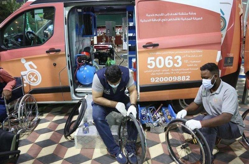حركية تنفذ أكثر من 141 عملية صيانة للكراسي المتحركة في محافظات الرياض