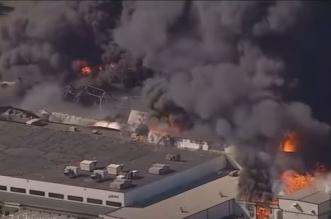 حريق هائل يلتهم مصنع كيمياويات في أمريكا - المواطن