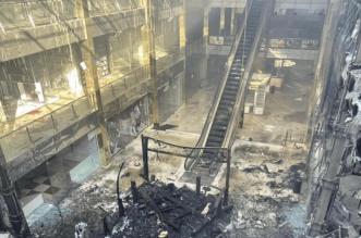 حريق ضخم يلتهم أربيل مول في العراق