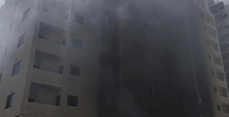 حريق كبير بفندق لافيدا في بيروت