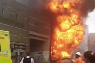 شاهد انفجار ضخم بمحطة قطارات في لندن