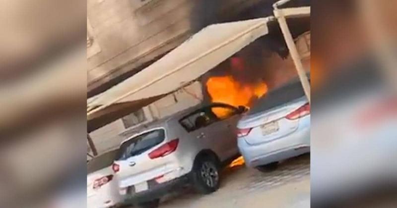شاهد سعودي شجاع ينقذ العشرات من كارثة كبرى
