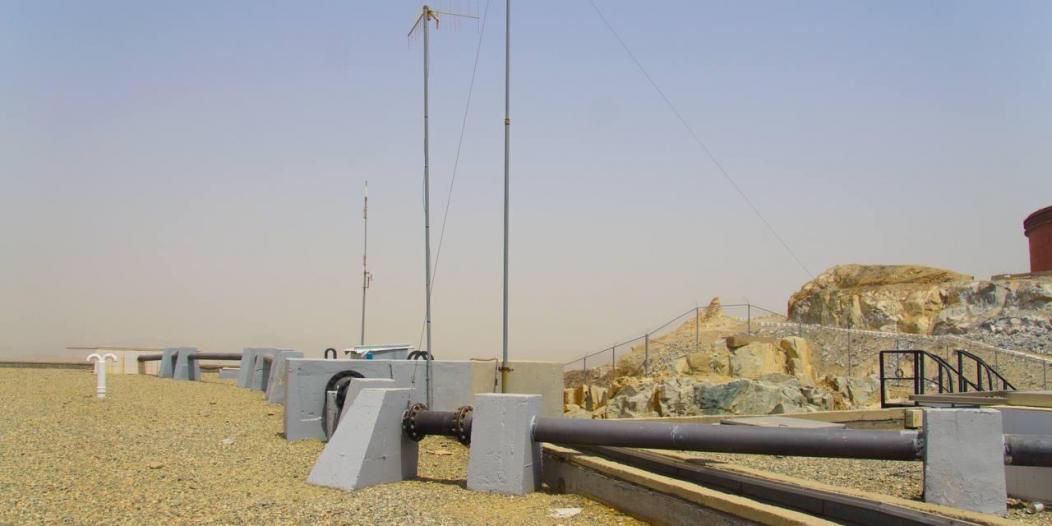 صيانة أسبوعية لخزان مياه ملكان المغذي للمسجد الحرام