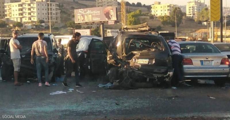 عائلة تدفع ثمن طوابير البنزين بحادث مروع في لبنان