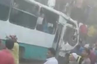 قطار يصطدم بأتوبيس عمال في مصر - المواطن