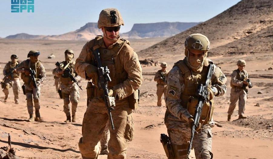 استمرار مناورات مخالب الصقر 4 بين القوات البرية السعودية والقوات الأمريكية