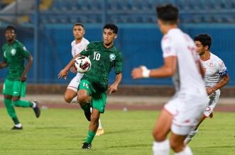 منتخب السعودية ضد تونس