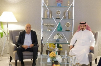 ياسر المسحل ورئيس الاتحاد الفلسطيني