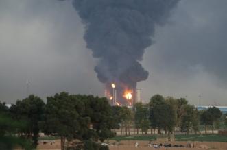 شاهد.. حريق كبير في مصفاة نفطية جنوب طهران - المواطن