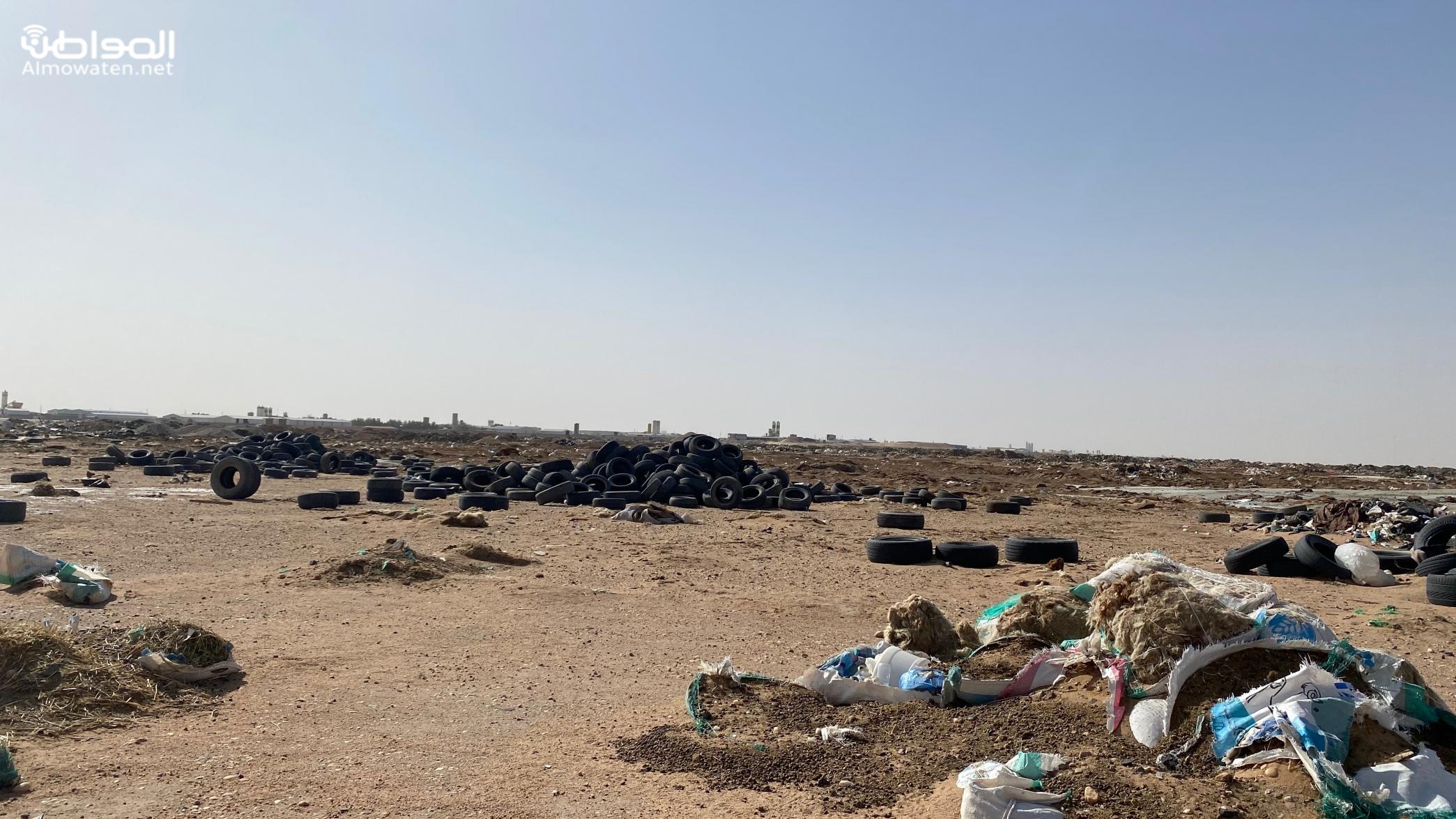 حريق إطارات في مكب مخالف يستنفر مدني حفر الباطن
