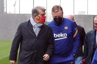 رونالد كومان مدرب برشلونة