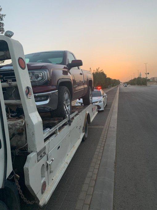 مفحط حي الريان بـ عرعر في قبضة رجال المرور - المواطن