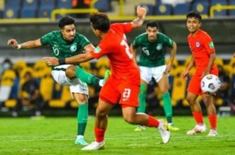المنتخب السعودي - السعودية وسنغافورة