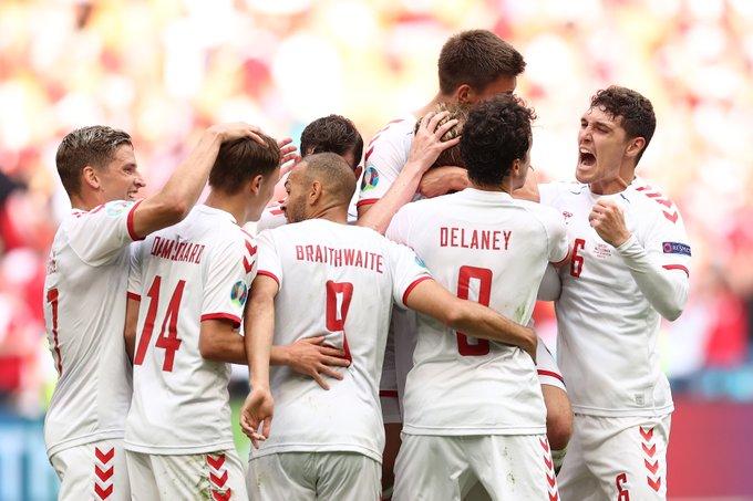 منتخب الدنمارك أول المتأهلين لربع نهائي يورو 2020