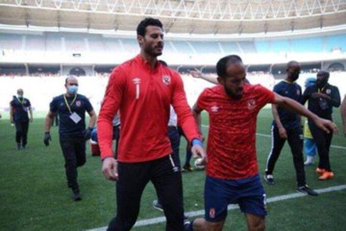 اشتباكات مباراة الأهلي والترجي