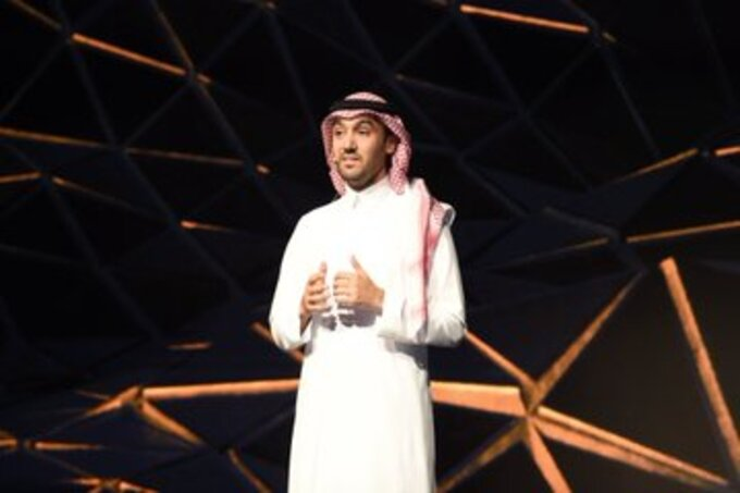 العداء مازن الياسين - وزير الرياضة - الأمير عبدالعزيز بن تركي الفيصل