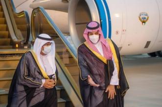 لحظة استقبال محمد بن سلمان لولي عهد الكويت في الرياض - المواطن