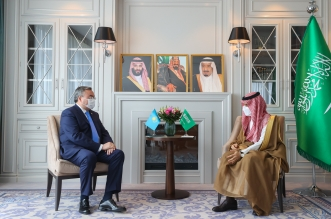 الأمير فيصل بن فرحان يلتقي وزير خارجية طاجكستان