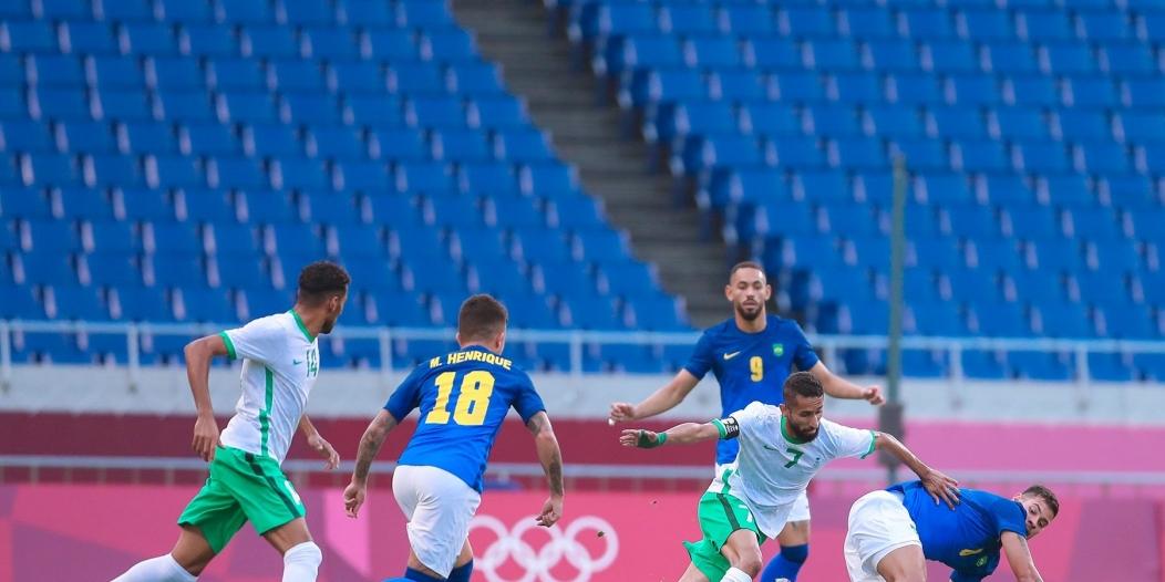 تعادل السعودية ضد البرازيل بالشوط الأول
