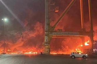 التحقيق في سبب حريق جبل علي في دبي ولا وفيات أو إصابات - المواطن