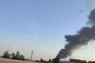 حريق ضخم في مصنع غربي طهران - المواطن