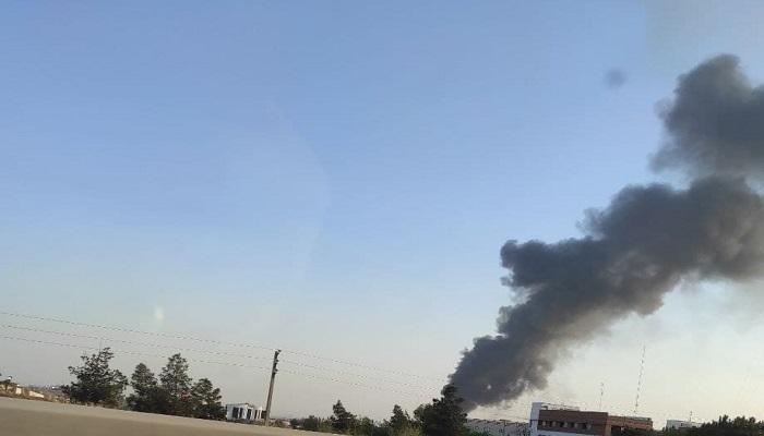 حريق ضخم في مصنع غربي طهران
