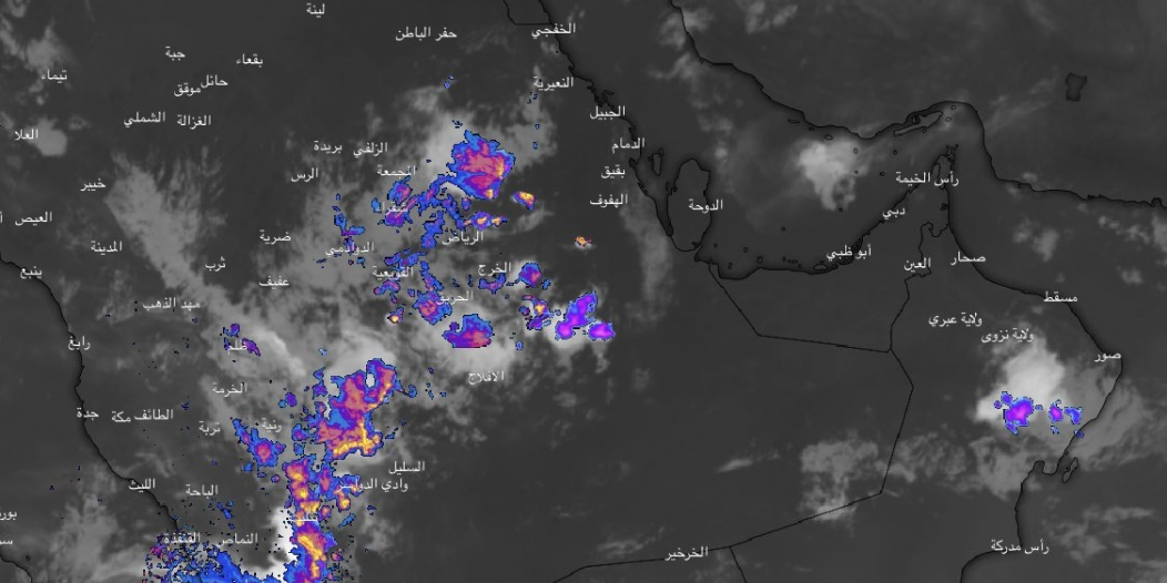 سحب كثيفة على الرياض وعسير وجازان وأمطار غزيرة متوقعة الليلة