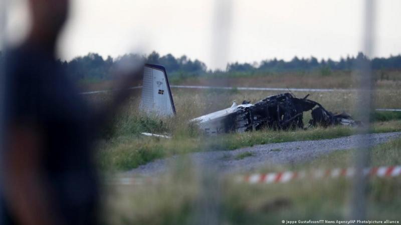 كارثة جوية في السويد بعد تحطم طائرة تحمل 8 أشخاص