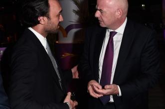 وزير الرياضة ورئيس فيفا في كأس أوروبا