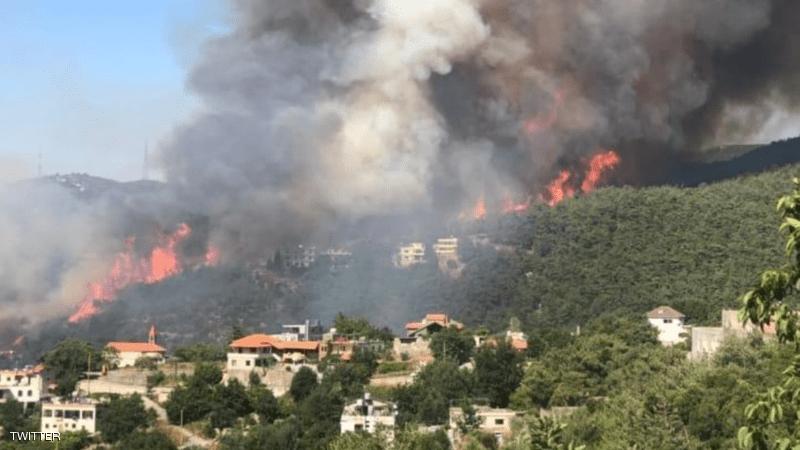 اندلاع حريق هائل أقصى شمال لبنان