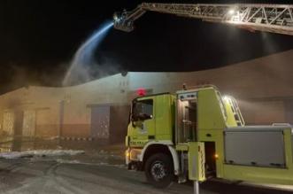 حريق يلتهم مستودعاً لتخزين المواد الكيماوية بالدمام - المواطن