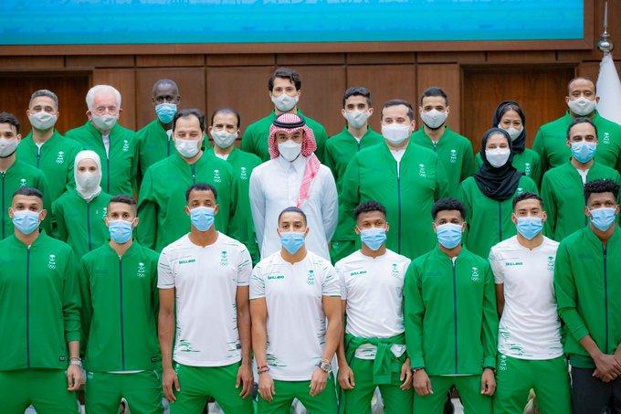 الأبطال الأولمبيين مع وزير الرياضة