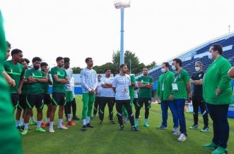 المنتخب السعودي الأولمبي - وزير الرياضة يدعم الأخضر الأولمبي قبل مواجهة كوت ديفوار