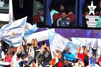 استقبال منتخب الأرجنتين