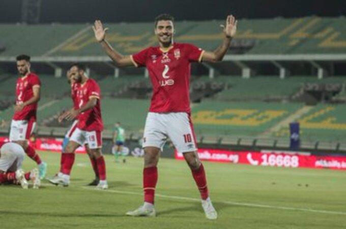 محمد شريف بـ مباراة مصر المقاصة ضد الأهلي