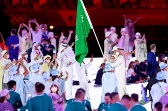 أولمبياد طوكيو - دورة الألعاب الأولمبية - الوفد السعودي في حفل افتتاح أولمبياد طوكيو