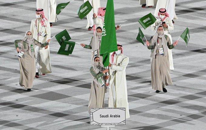 الوفد السعودي في حفل افتتاح أولمبياد طوكيو