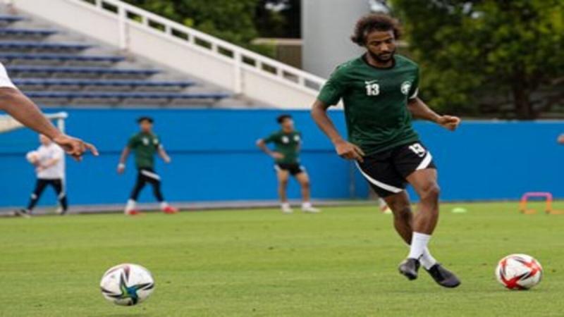 المنتخب السعودي الأولمبي قبل مباراة السعودية وألمانيا