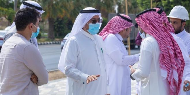 أمين عسير يتابع نسبة إنجاز مشروع حديقة الوطن بأبها