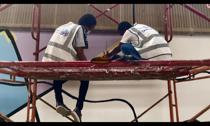 رسومات جدارية تحفز الرياضيين وذوي الإعاقة بطريق الأمير محمد بن سلمان - المواطن