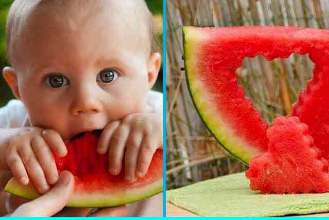 تناول البطيخ