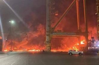 انفجار ضخم بسفينة تجارية قبالة جبل علي في دبي - المواطن