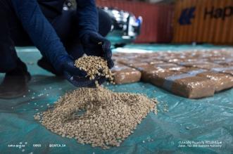لحظة ضبط 1.6 مليون حبة من الكبتاجون في ميناء جدة