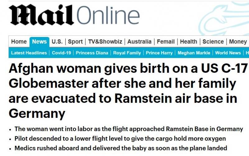 سيدة أفغانية تلد على متن طائرة إجلاء أمريكية !