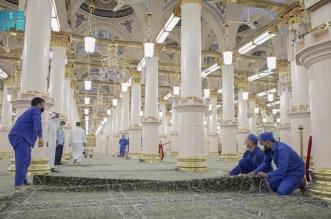 شؤون المسجد النبوي تجدّد سجاد الحرم - المواطن