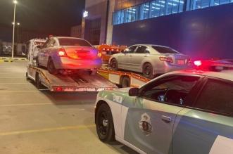 ضبط قائدي مركبات دفعوا بعضهم على الطريق - المواطن